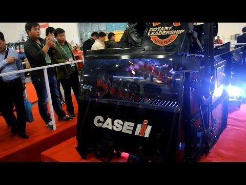 Axial roller harvester(CASE iH) on agri expo 2014 (wuhan China)