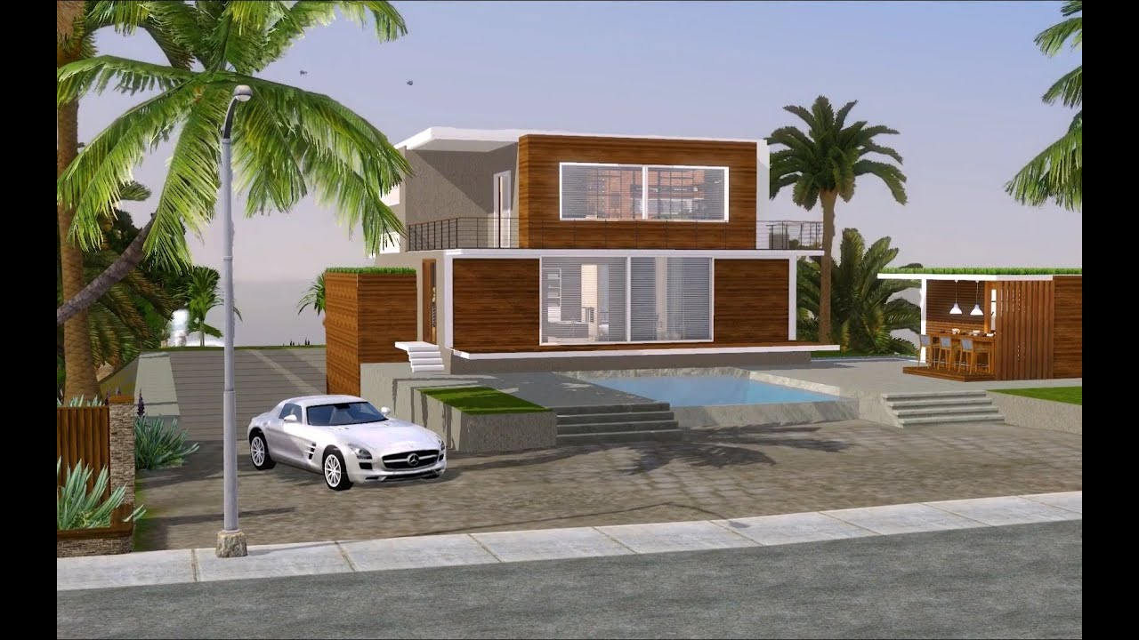 The sims 3 modern californian mansion 1080p youtube for Best house designs for the sims 3