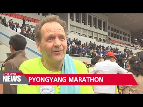 Hundreds of foreign runners participated in Pyongyang's annual race