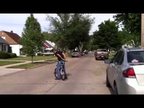 Rick Hegwood bicycle tricks in Dearborn Michigan