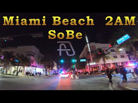 Driving Around SoBe at 2AM in 4K: South Beach - Miami Beach, Florida June 29, 2020
