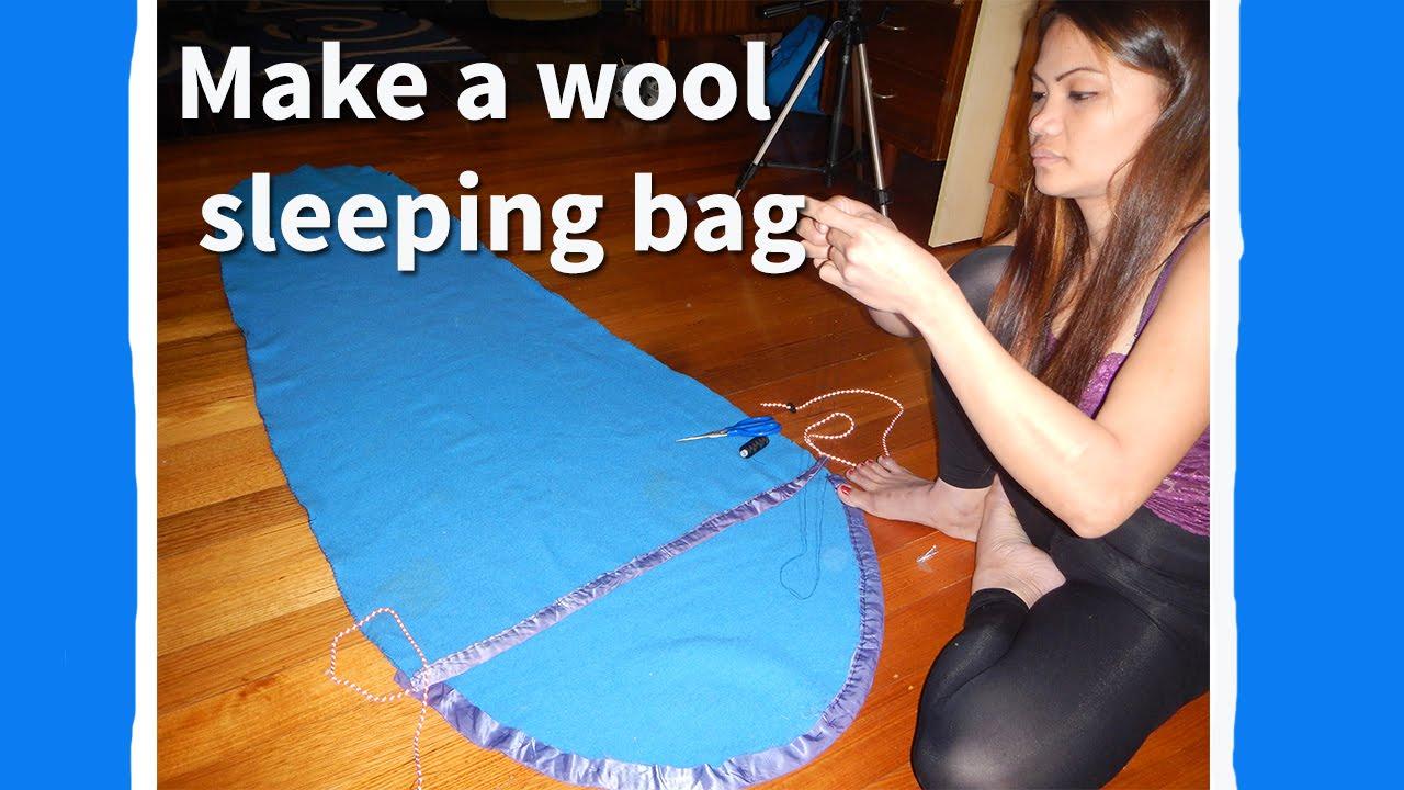 How to make a wool sleeping bag