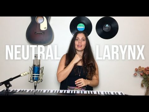 how to stop straining your larinx when singing high