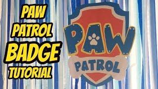 DIY Paw Patrol Shield for backdrop | Dollar TREE DIY