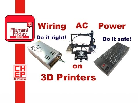how to wire ac line power to a 3d printer kit power supply. Black Bedroom Furniture Sets. Home Design Ideas