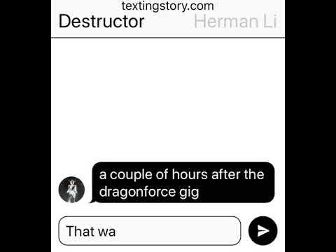 Destructor meets Herman Li from dragonforce part 2