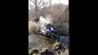 dirt bike in mud