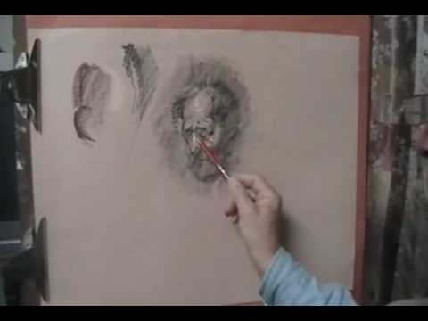 Scribble Drawing Process : Drawing with pastel and charcoal process youtube