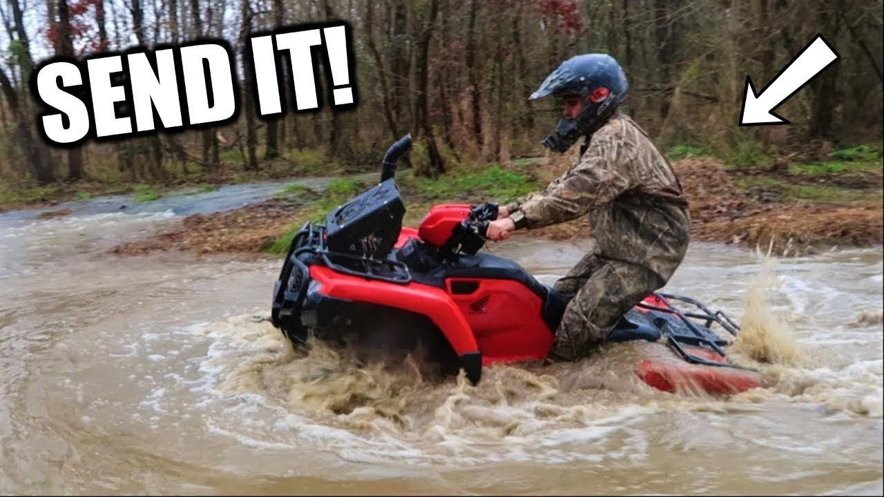 Big Four Wheelers >> MUDDING on the NEW Four Wheeler! - YouTube