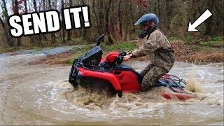 MUDDING on the NEW Four Wheeler!