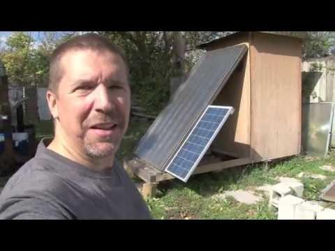 Off grid solar food dehydrator