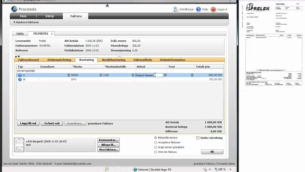 Visma proceedo fakturahantering youtube for Visma arredo 1