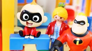 Incredibles 2 Baby Jack Jack Goes To Playmobil Preschool Daycare Pretend Play Toys Just4fun290