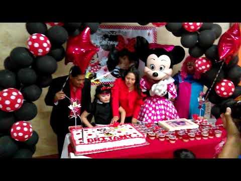 Cumpleaños de Brithany y Minie Mouse