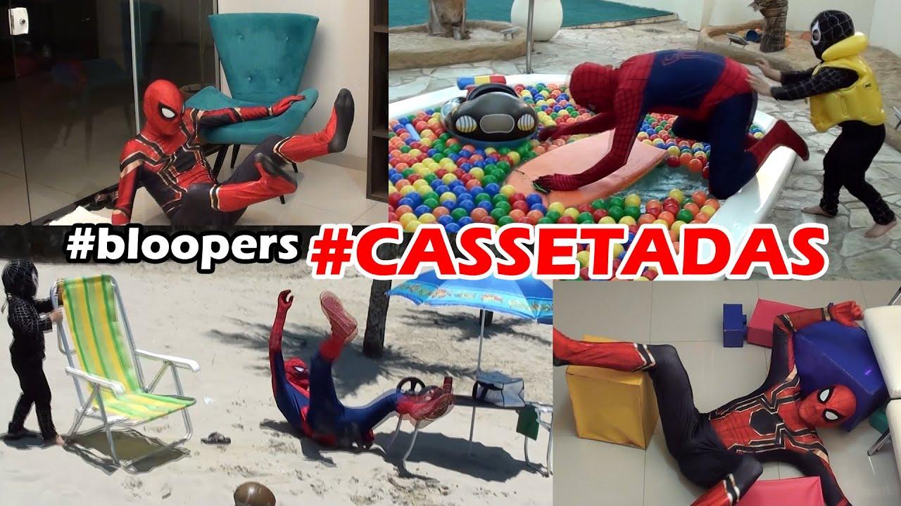 Vídeo Cassetadas do Homem Aranha - Spiderman Bloopers - 20 min