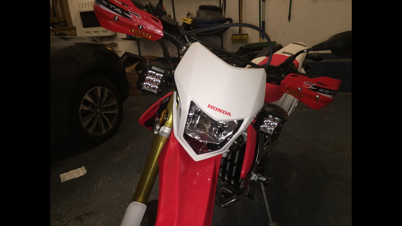 how to install led headlights onto a crf250l