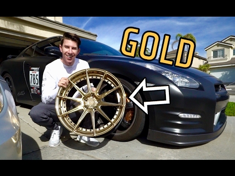 GTR GETS NEW GOLD WHEELS! Two-Piece ADV1's