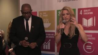 "Shakira at Davos 2017: ""businessmen have to take the first steps"""