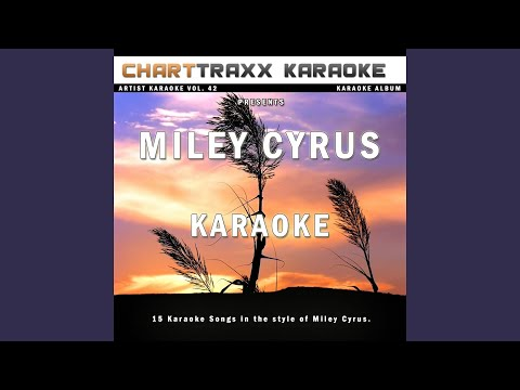 One In A Million (Karaoke Version In The Style Of Miley Cyrus)