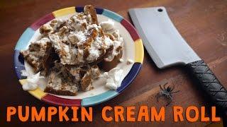 """Scary"" Pumpkin Cream Roll (with aquafaba!) - Ep. 27"