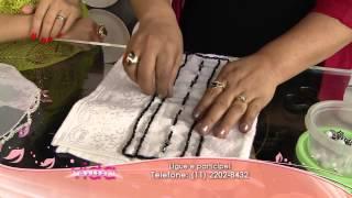 Saiba como fazer toalhas com pedraria