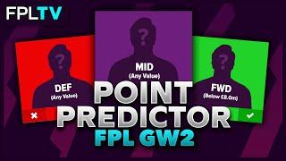 FPL Point Predictor | GAMEWEEK 2 | Fantasy Premier League | 20/21