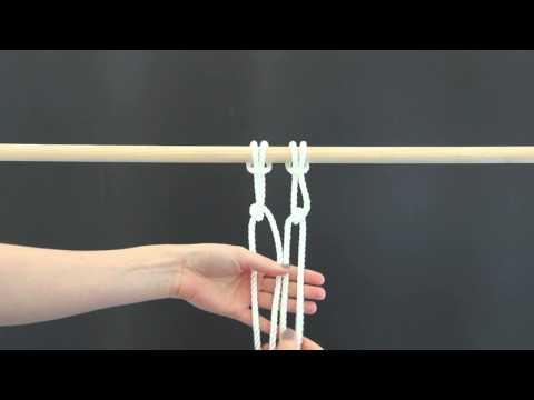 DIY: Makramee-Vorhang