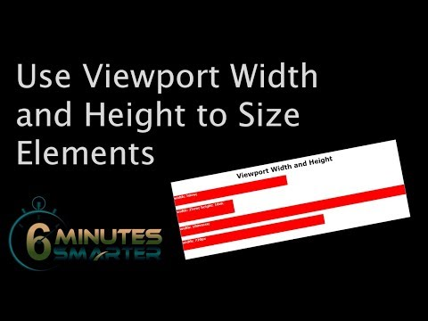 Use Viewport Width And Height To Size Elements