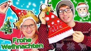 DIY Weihnachtsmützen 🎅 Wer macht die schönste Weihnachtsmütze?! Eva vs Felix