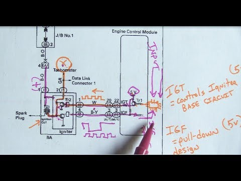 Ignition System Operation  Testing - (No Spark Toyota Celica)-Part