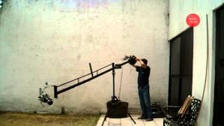 Grua con Cabezal Robotico para Video Cámara