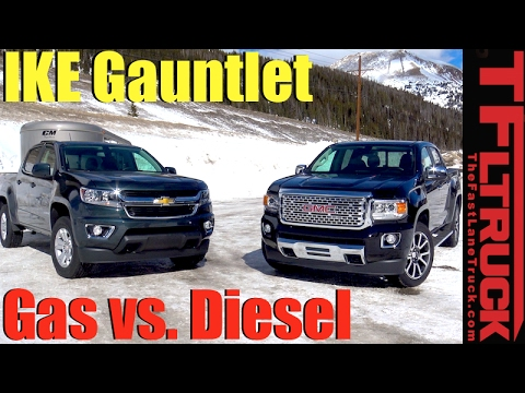 2017 Chevy Colorado vs GMC Canyon Duramax Ike Gauntlet Review: World's Toughest Towing Test