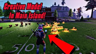 Creative Mode In Main Island Glitch In Fortnite (New) Fortnite Glitches Season 7 PS4/Xbox one/PC