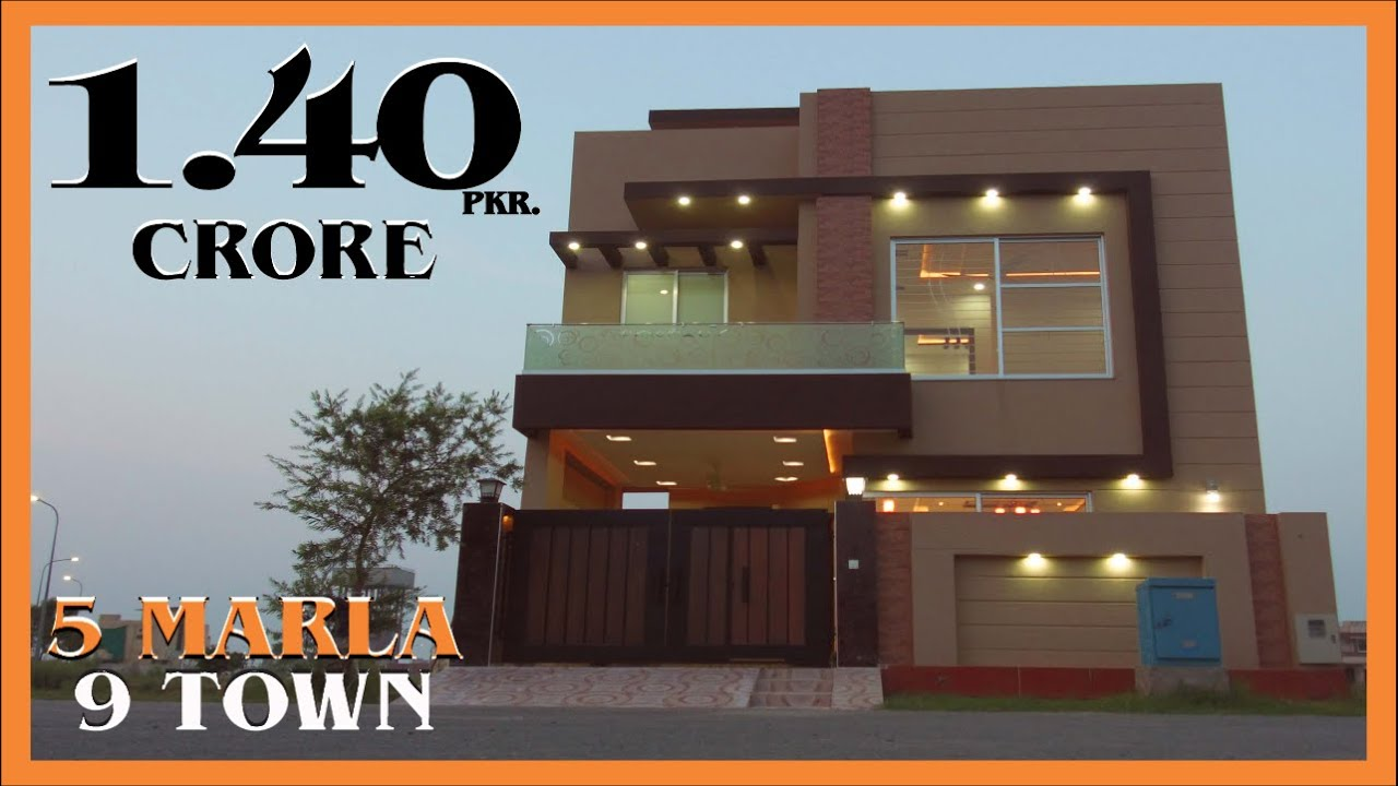 DHA LAHORE: 5 MARLA HOUSE FOR SALE IN 9 TOWN PRICE 1.40 CRORE