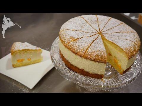 Klassische Käsesahne Torte - Käse Sahne Torte mit Mandarinen - Klassiker - Kuchenfee