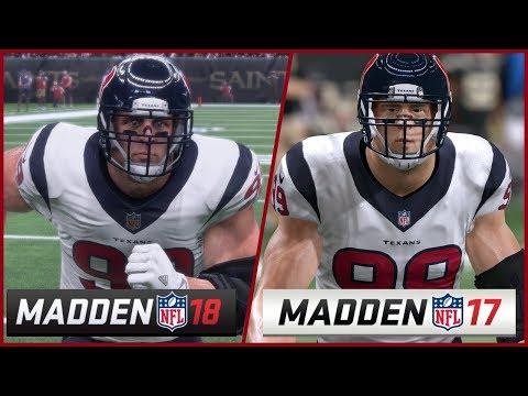 Madden 18 vs Madden 17 Graphics Comparison