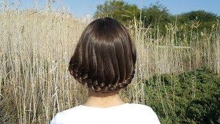 Каре из длинных волос, без ножниц // Short hair without scissors