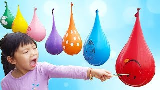 Learn Colors With Color Water Balloons For Children, Finger Family Balloons Nursery Rhymes, BaBiBum