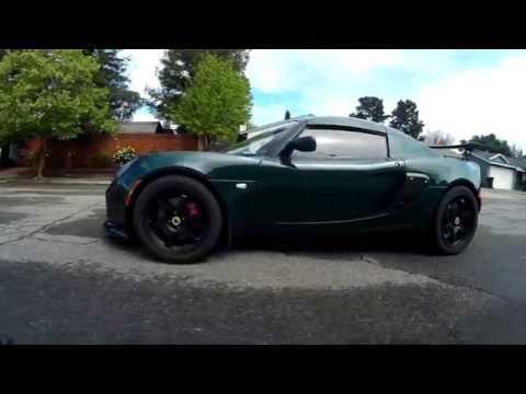 Lotus Elise British Racing Green, Drone Fly Around