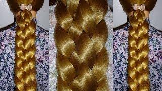 ЛЁГКАЯ  Двойная косичка самой себе.Причёска для средних, длинных волос на каждый день
