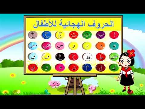 الحروف الهجائية العربيه للأطفال 1  | مع أمثلة صور الحيوانات متحركة