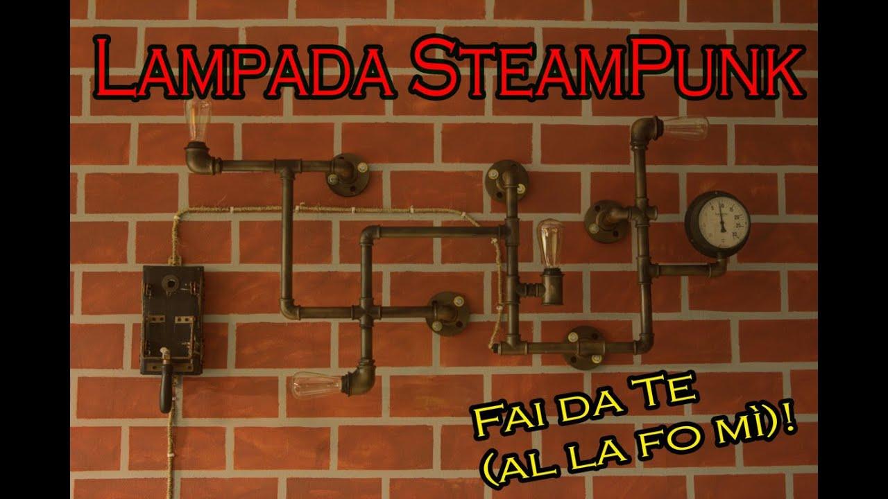 Come Creare Una Lampada Steampunk Con Tubi Dell Acqua Tutorial Zerospreco