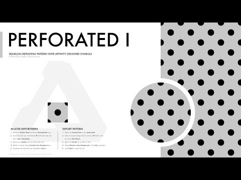 Affinity Designer Pattern - Perforated I (polka-dotted) - YouTube
