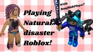 Jouer Roblox #2! ( catastrophe naturelle avec Rmg bob playz) partie 1