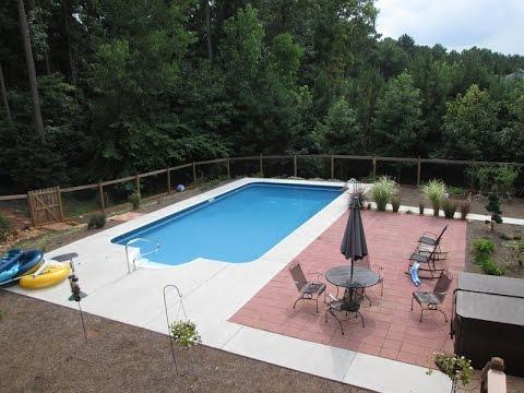 New Swimming Pool Construction Atlanta Georgia Youtube