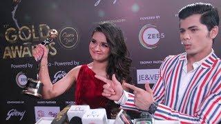 Siddharth Nigam Shows His Excitement when GF Avneet Kaur Won Her Debut Award  Gold Awards 2019
