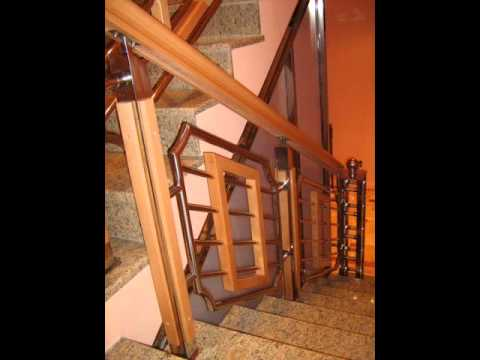 Najlepse Ograde  Za Stepenice Drvo- Inox