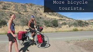 Bicycle touring Spain. Overcoming hills and rivers.