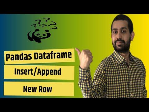 How to insert/add a new row in Pandas Dataframe   Append a list to Pandas Dataframe 