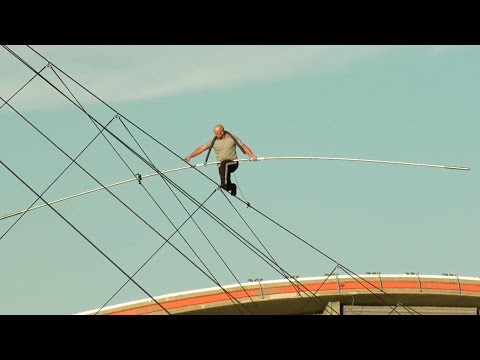 Nik Wallenda's high-wire walk over the Calgary Stampede midway